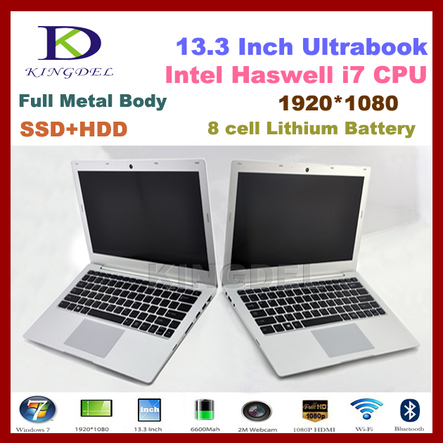 "Kingdel Intel i7 13.3 "" laptop notebook computer Dual Core Quad threads 4GB Ram+64GB SSD Bluetooth Wifi HDMI(China (Mainland))"