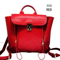 New 2014 LUXURY PU Leather Women Backpack Brand women Traval bags Fashion Women School Bags