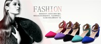 Free shipping 2014 new shoes sweet summer wind thick with whom shoes pointed sandals High heels   N01