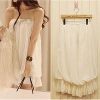 2014 summer tube top chiffon women's bridesmaid dress tube top dress one-piece dress sexy evening dress small