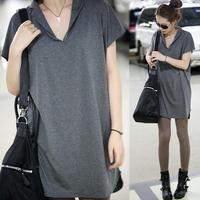 2014 summer women's  medium-long batwing shirt loose short-sleeve T-shirt female summer top