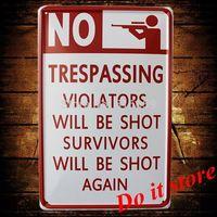 [ Do it ] No Shot Metal sign Wholesale Vintage Craft Pub Bar Plaque Wall painting Room Decor 20*30 CM AB-65