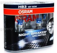 osram 9005NBU NIGHT BREAKER UNLIMITEM HB3 12V60W +110%light P20d 3900K halogen lamps