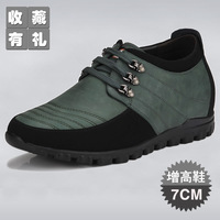 New arrival 14 elevator shoes men's casual genuine leather tidal current male shoes 6 elevator