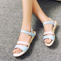 2014 flat sandals female flat heel shoes sweet young girl anti-slip soles