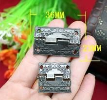 2014 Top segundos Fasion matar 1.5-polegadas dobradiça da liga caixa de selo de madeira antigo 36 * 23 mm(China (Mainland))