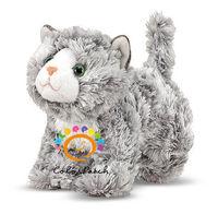 7528,Top Sale!Supper Mini Grey Roxie Tabby Cat,Stuffed Animal,Plush Soft Toy,Lovely Cat,Super Light,Meet EN71,ASTM&CE Test.