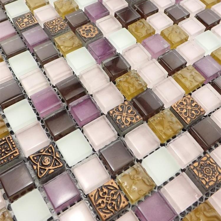 Am lioration de l 39 habitat violet cristal mosa que de for Carreaux salle de bain mur