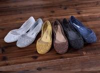 2014 summer women sandals cutout jelly sandals fashion shoes flat beach slip-resistant rain boots lady's shoes color hole shoes