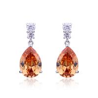 wholesale AAA Zircon  water drop shape   18k white gold earirng  Drop  Earring Free Shipping