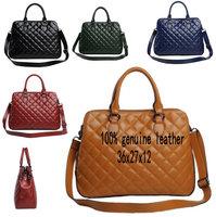 New design Spring 2014 Handbags Fashion Vintage Genuine Leather Quilted Totes Women Messenger Bags Shoulder Bag women bag,5color