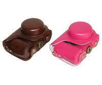 wb800f PU leather camera case camera bag for Samsung WB800F - hot pink or brown free shipping