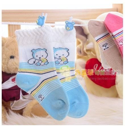 Spring and autumn 100% cotton baby socks baby socks thin comfortable 's top baby socks children socks(China (Mainland))