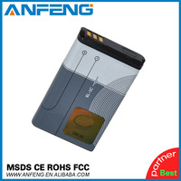 Wholesales -2 pieces/lot  BL-5C mobile battery for Nokia cellphone 1600 2600 3100 6600 6680 E50 N70 by factory 1020mAh