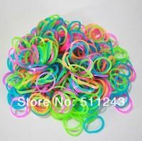 Fluorescent Luminous Rainbow Rubber Bandz total 1800 bands+ 72 Clips