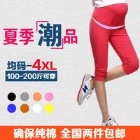Maternity clothing summer fashion plus size maternity legging ruffle 100% cotton adjustable maternity pants