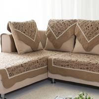 Coffee fluid sofa cushion cloth slip-resistant leather sofa mat 100% cotton sofa cover