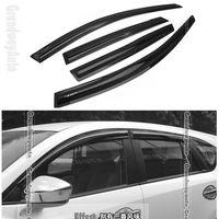 4 Pcs Car Door Window Rain /Sun Guards Visor Vent  Sunvisor Trim Exterior Trim  For Mazda CX-5 CX5 2012-present Free Shipping