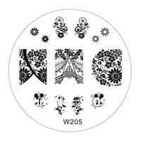 Free shipping20Pc/lot 40Design For Choose 70MM Nail Tool Art Stamp Stamping Stainless Steel Image Plate Design Template W series