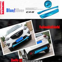 Car Front+Rear Bumper Protector Guard Diffuser Trim Spoiler For Mazda CX-5 CX5 2012-present Free Shipping