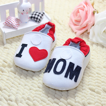 I love Mom, I Love Dad Baby Shoes Soft Sole Infant First Walkers Toddlers Модный ...