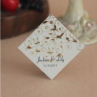 Free Shipping 30 pcs Personalized Rhombus Old World Elegance Wedding Favor Tag/Wedding Decoartion/Garden Supplies