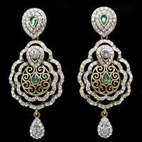 Zinc Alloy Platinum Gold Plated Rhinestone Classic Water Drop Wholesale Big Crystal Drop Earrings Vintage Bridal Wedding Jewelry