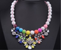 Fashion Necklaces Pendant ,Party Chokers Necklace ,Artificial Gem Crystal Pendants Necklace For Women