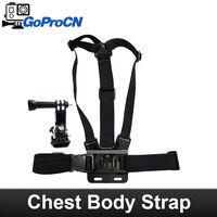 Chest Mount Harness for GoPro Hero 3+/3/2/1 Cameras - Adjustable Body Strap Rig + 3-Way Adjustment Base, same as original one
