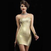 COWEE Autumn and winter bandage fashion formal dress sleeveless tube top tube top slim hip slim elegant one-piece dress 28073