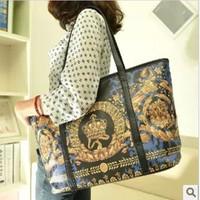 Fashion spraying national trend big bag women's handbag personalized bag  free shipping