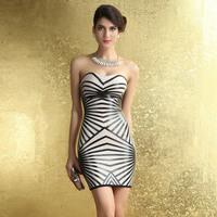 COWEE Spring women's tube top tube top elegant slim hip bandage slim one-piece dress 28069
