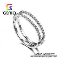 GN R395 Italina 18K Platinum Plated female Austrian crystal ring fashion jewelry free shipping!2colors!