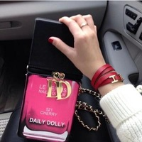 2014 Japan Brand Daily Dolly Women Handbag Unique Nail Polish Bottle Accessories For Weekend Party Punk Totes Shoulder Bag y40