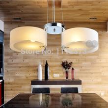 Free Shipping LED Modern fashion Acrylic Glass Chandelier with 2 lights AC110V-220V(China (Mainland))