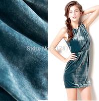 2014 fashion silk georgette velvet one-piece dress flock printing fabric
