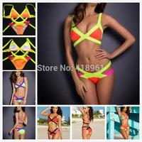 Size XS-XL Sexy Women Bandage Bra Padded Bikini Strap Halter Swimwear Brand HL Swimsuit