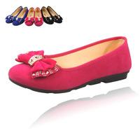 Cotton-made beijing shoes Women rhinestone fashion four seasons shoes low women's bow shoes casual cloth light shoes