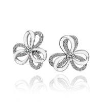2014 new arrival wholesale free shipping 18KGP E597 18k gold earrings fashion jewelry nickel free nice flower earrings for women