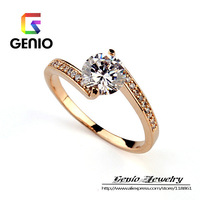 GN R401 18K Gold Plated High-end jewelry exquisite full handmade Micro Pave CZ female ring free shipping!
