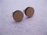 2014 fashion jewellry circle shape  wood stud earrings