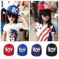 2014 Fashion BOY GIRL Children Baseball Caps 5 Panel Snapbacks Flat-Brimmed Kids Hat 3 Colors For Choose