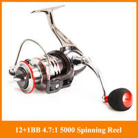 Hot 12+1BB MR5000 coil Spinning Fishing Reels powerful baitcasting Reel Carp Fishing Baitrunner Coil Fishing Carp tackles