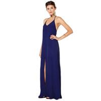 XS-XXL Bohemia Beach Placketing Spaghetti Strap Racerback Blue Long Sexy Dress 2014 Summer New Fashion Plus Size