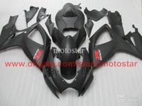 Wholesale - Injection for matte black SUZUKI GSXR 600 750 2006 2007 GSX-R600 GSX-R750 06 07 K6 full fairing kit