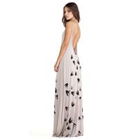 XS- XXL Sexy Spaghetti Strap Adjustable Racerback Swallow Pattern Print One-piece Dress 2014 Women Plus Size Banquet Maxi Dress