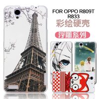 For oppo   r809t r833 colored drawing relief protective case mobile phone case ultra-thin new 2014 free shipping