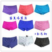 Split swimwear chromophous all-match women's boxer swimming trunk boxer shorts plus size strap