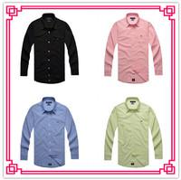 Brand Spring Autumn Summer Men Oxford Long Sleeve Casual Outdoor Dress Shirt Man Fashion Slim Fit Business Clothing Shirt Top
