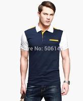 2014 New Arrived Men's Casual Summer Lycra Cotton Short T-shirt, Fashion British Style T-shirt For Men 100% cotton